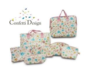 Confetti Design กระเป๋าผ้าเคลือบพลาสติก กระเป๋าแฟชั่นเก๋ไก๋ ทันสมัย สาวๆไม่ควรพลาด